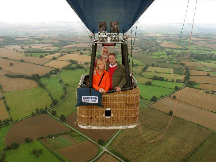 Our little 2 passenger balloon – how romantic!
